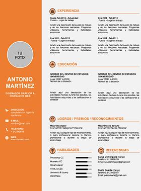 Plantilla Curriculum Vitae Word Completo
