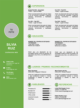 Plantilla Curriculum Vitae Word Modelo