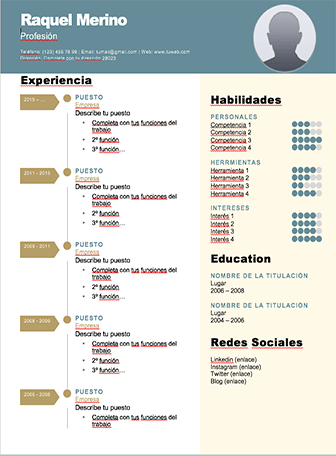 Plantilla curriculum word