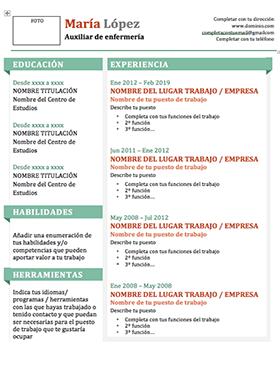 Plantilla Curriculum Vitae Word Sencillo