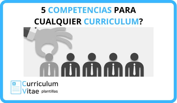 competencias curriculum