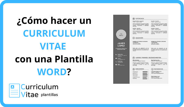 curriculum plantilla word