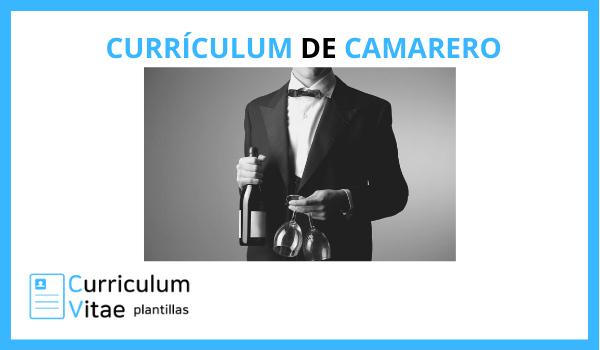 CURRICULUM DE CAMARERO